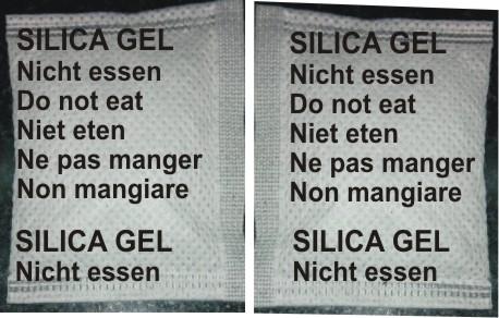 Gói hút ẩm tiếng Đức, Anh, Hà Lan, Pháp, Ý
